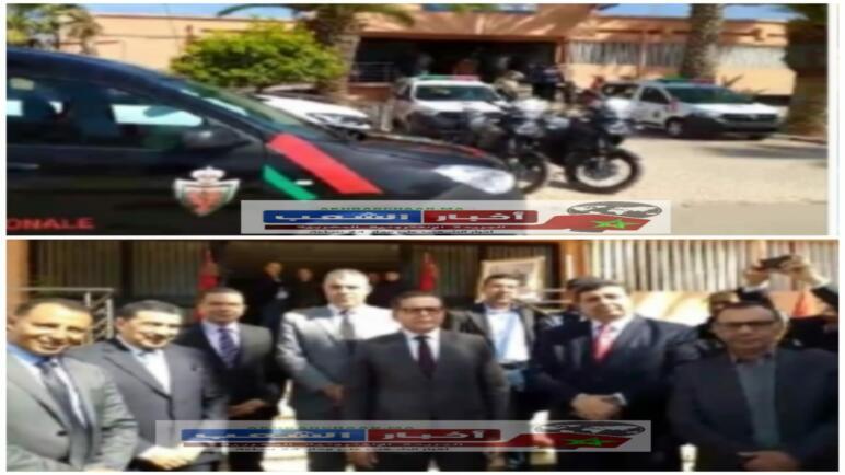 عامل إقليم الفقيه بنصالح يشرف على تسليم عدد من السيارات والدراجات النارية لمصالح الأمن بالمدينة.