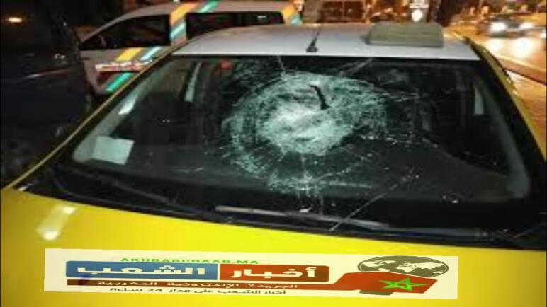 """خطير…. """"سائق سيارة أجرة يتعرض لاعتداء شنيع بني ملال."""