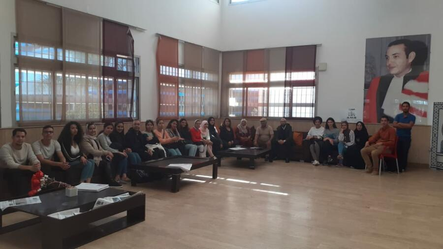 الدارالبيضاء..إجتماع بين جمعية الكرامة النسائية المغربية و و الصالون الثقافي لمة الحرف و الكلمة
