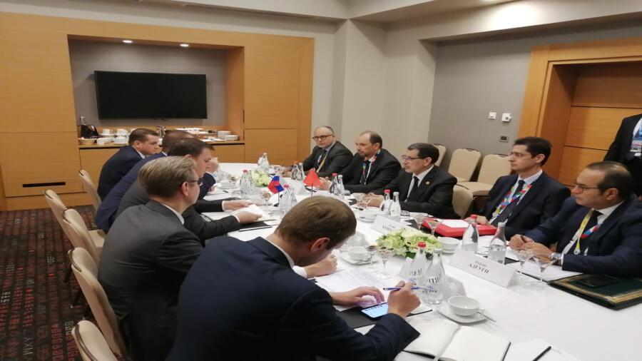 رئيس الحكومة يبحث مع وزير الفلاحة الروسي تطوير العلاقات بين البلدين