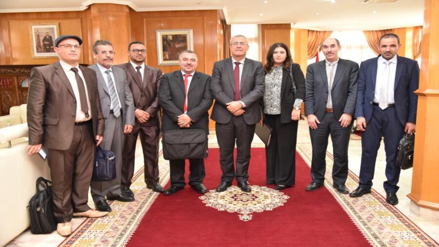 السيد وزير العدل في استقبال المكتب التنفيذي للنقابة الوطنية للنساخ القضائيين بالمغرب