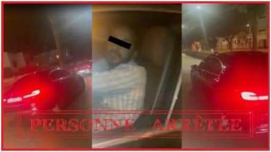 الدار البيضاء..ايقاف صاحب السيارة المنطلقة بسرعة وهي تحمل على غطاء محركها شخصا في ظروف من شأنها تهديد سلامته الجسدية والمس بأمن مستعملي الطريق.