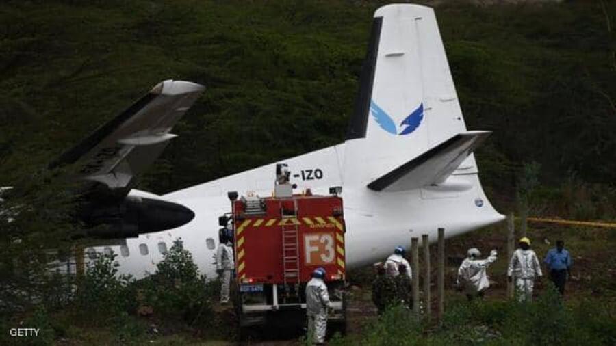 تحطم طائرة اثناء اقلاعها