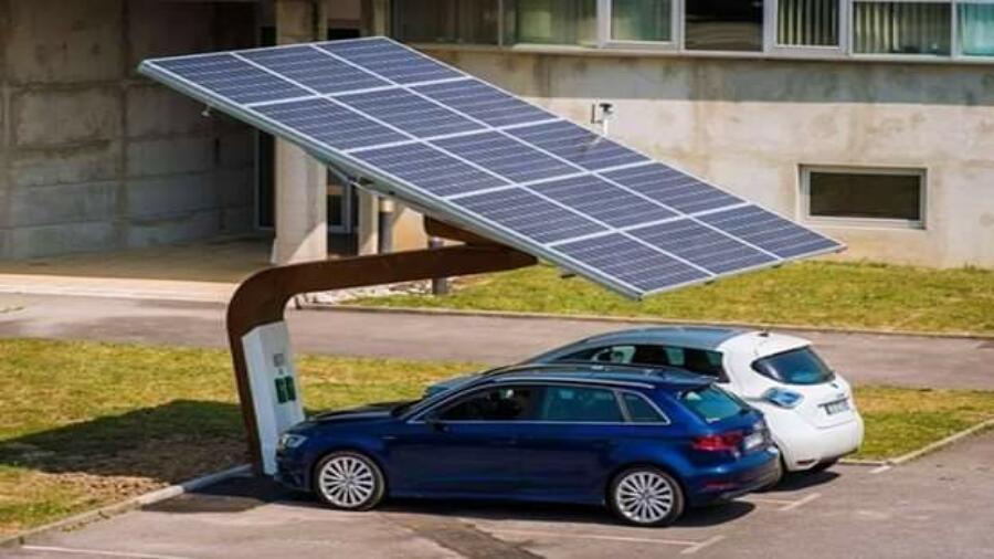 الرباط..أول مظلة لشحن السيارات الكهربائية بالطاقة الشمسية