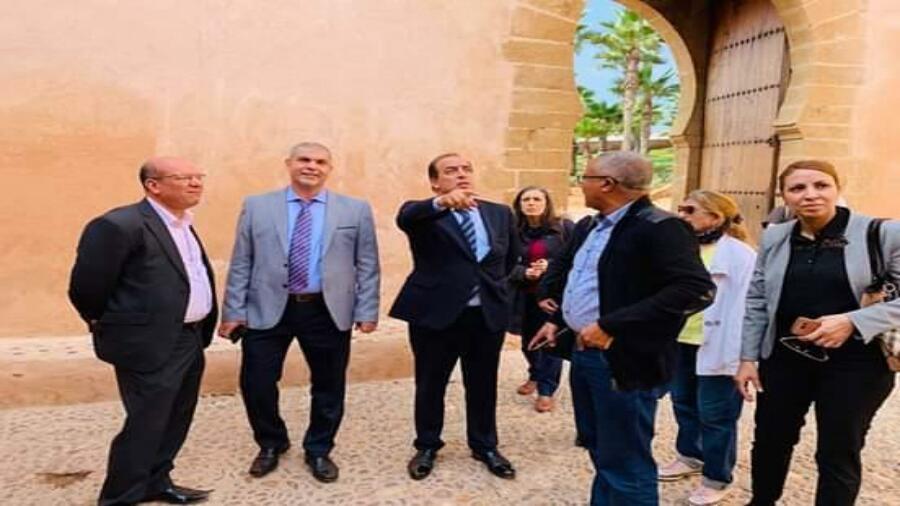 زيارة تفقدية من طرف الوزير الحسن عبيابة لموقع حديقة الأوداية التاريخي بالرباط