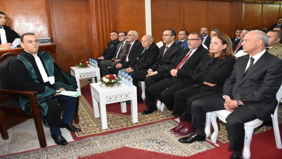 طنجة..رئيسة الجهة تحضر حفل تنصيب الرئيس الجديد للمحكمة التجارية بطنجة السيد عبد اللطيف الهدان.