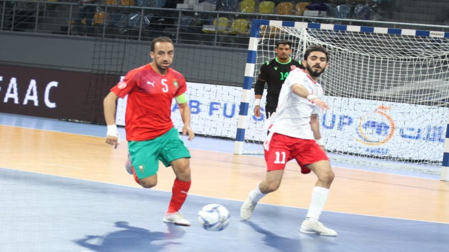 تأهل مصر والمغرب إلى نهائي كأس العرب لكرة قدم الصالات