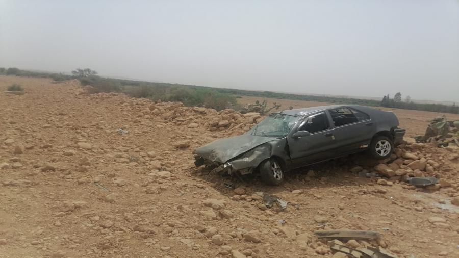 حادثة سير بين شيشاوة وسيدي بوزيد الركراكي