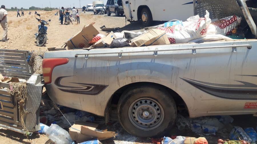 حادثة سير خطيرة بجماعة لمزوضية وعامل إقليم شيشاوة يطمئن على الجرحى.
