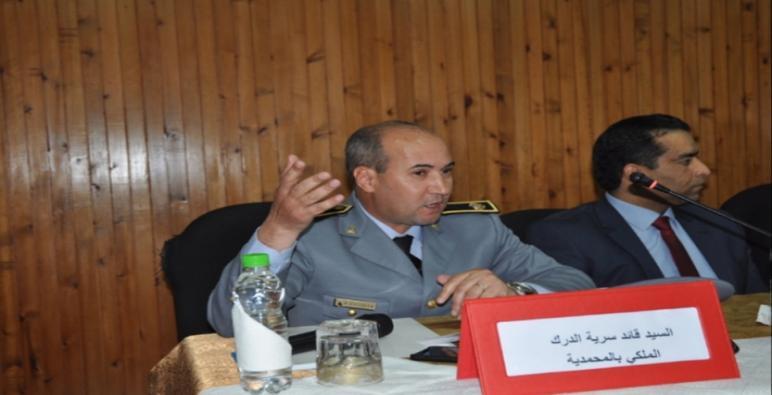 الرائد محمد بلوش يرتقي إلى منصب كولونيل بعد مسار حافل على رأس درك المحمدية.