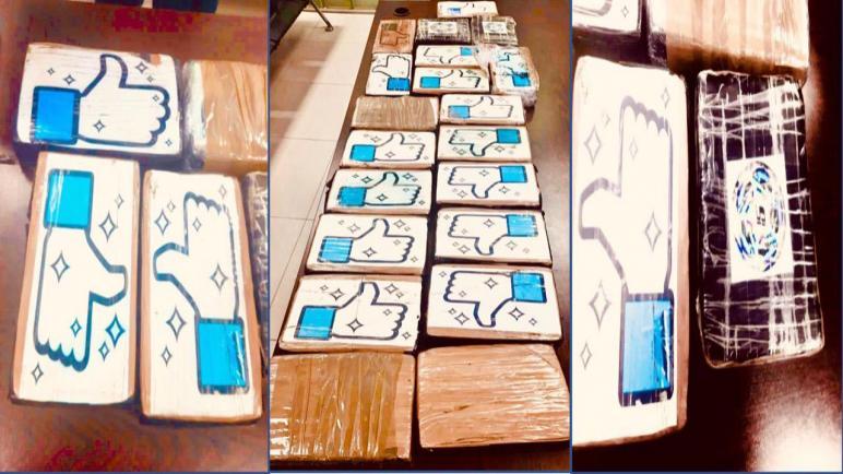أمن ميناء طنجة المتوسط..إجهاض عملية للتهريب الدولي لشحنة بلغ مجموع وزنها 22 كيلوغراما و800 غرام من مخدر الكوكايين الخام، جرى حجزها على متن شاحنة للنقل الدولي للبضائع مرقمة بالمغرب.