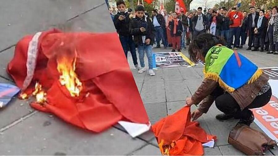مغاربة يدينون بشدة إقدام انفصاليين بباريس على إحراق العلم المغربي