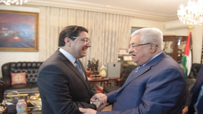 الرئيس الفلسطيني يستقبل بعمان وزير الشؤون الخارجية والتعاون الإفريقي والمغاربة المقيمين بالخارج الذي أبلغه رسالة شفوية من جلالة الملك