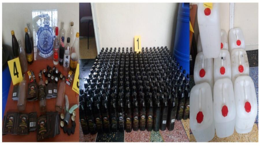 * توقيف شخص يشتبه في تورطه في إعداد وترويج مشروبات كحولية تحمل علامة تجارية مزيفة*