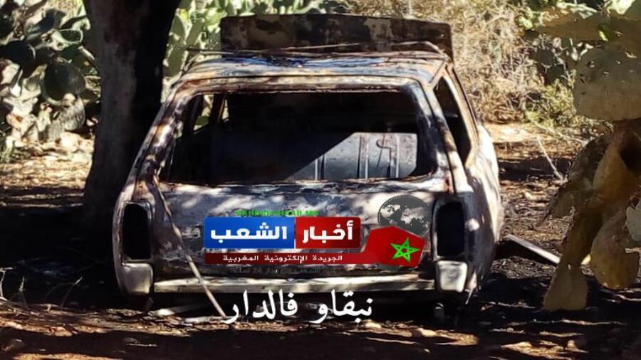 إضرام النار في سيارة نفعية بجماعة املو والدرك الملكي بسيدي افني يفتح تحقيقا في الموضوع