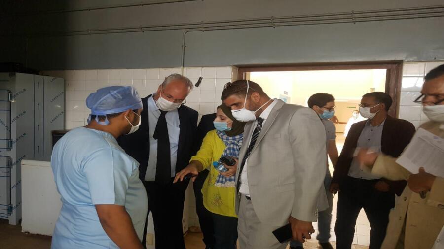 زيارة المدير الجهوي سعيد بوجلابة لمستشفى الحسن الثاني طنطان وإشادة بمجهودات مندوب الصحة بالمدينة .