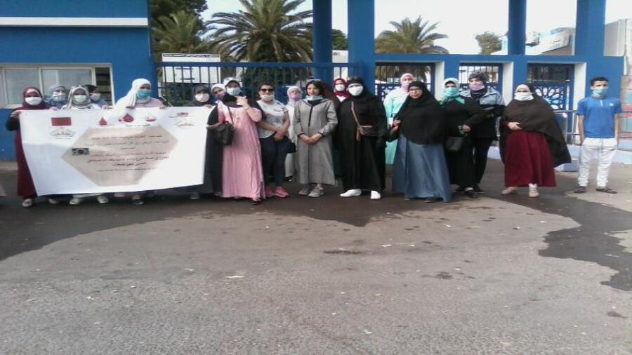جمعية الأنامل الذهبية تنظم حملة تبرع بالدم بالمستشفى الإقليمي الحسن الثاني بسطات