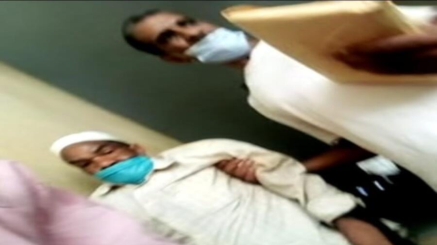 سقوط مسن داخل رواق محكمة الاسرة ونقله في حالة حرجة