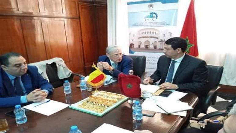 ززوم ….السيد ياسير عادل يعقد لقاء عمل مع السيد رئيس غرفة التجارة والصناعة لوالونيا….