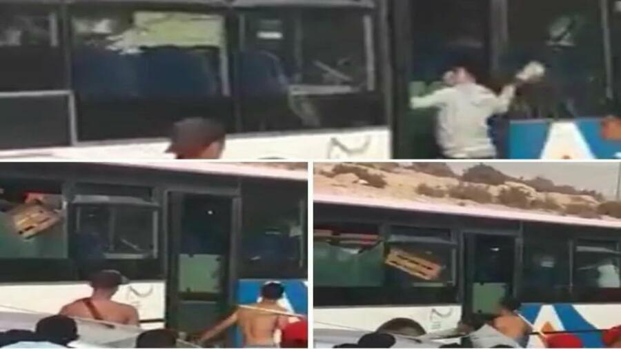 أكادير … أعمال التخريب ل حافلات ألزا تتواصل في مشاهد صادمة بتغازت