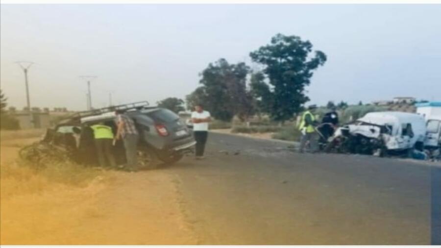 حادثة سير خطيرة بين تادلة وابي الجعد