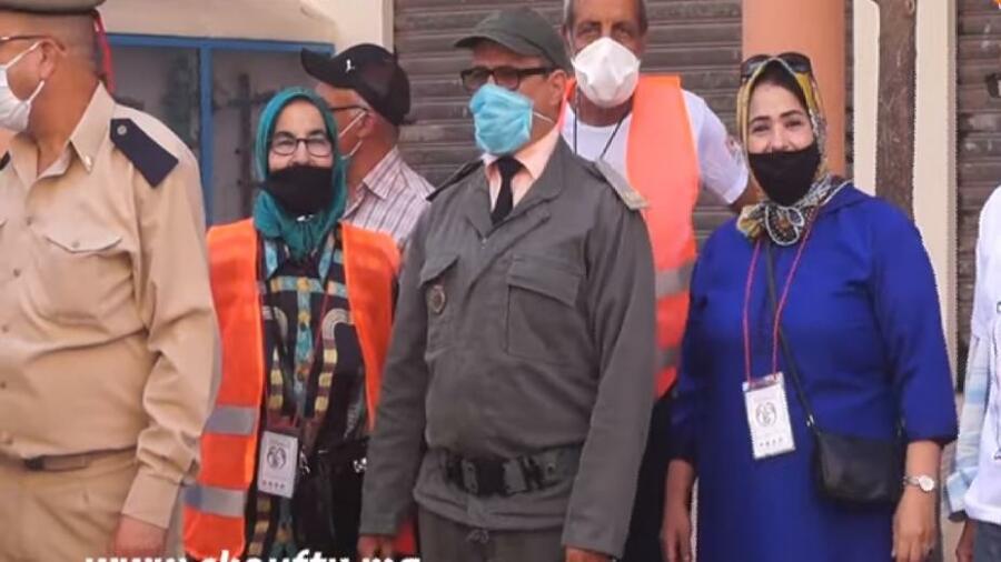 مقاطعات عمالة عين الشق ملحقة الجنانات بدأت بتوزيع الكمامات بالمجان
