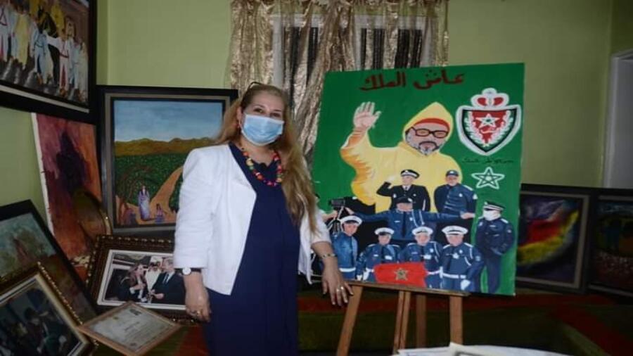 حوار خاص مع الفنانة التشكيلية السيدة بدوس فاطمة