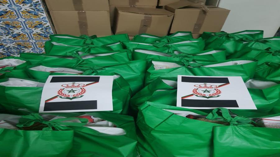جمعية أوفياء العرش العلوي المجيد بمناسبة شهر رمضان المبارك لسنة 2021،تشرف على عملية توزيع قفة رمضان لفائدة الأسر المعوزة.